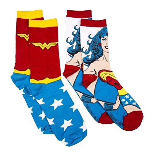 Carattere ufficiale DC Comics Wonder retrò donna assortita Logo calzini Set x2 coppie