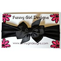 Funny Girl-Nylon Baby Bow Headband