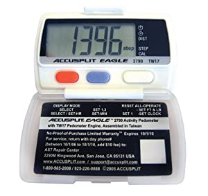 ACCUSPLIT Eagle AE1790WPR Steps; Distance; and Calorie Pedometer