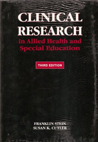 Clinical Research in Allied Health and Special Education