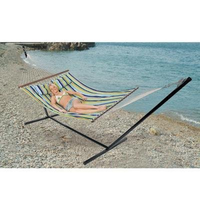 1 – Double Cotton Hammock w stand