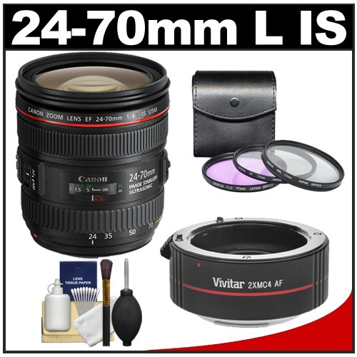 Canon teleconverter canon ef 24 70mm f 4l is usm zoom lens with 3 uv