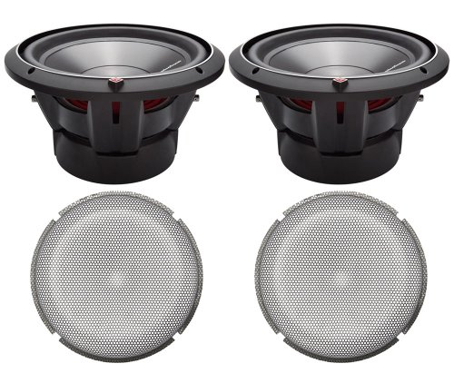 "2) Rockford Fosgate P3D2-10 10"" 1000W 2-Ohm Subwoofers + 2) Mesh Grille Inserts"