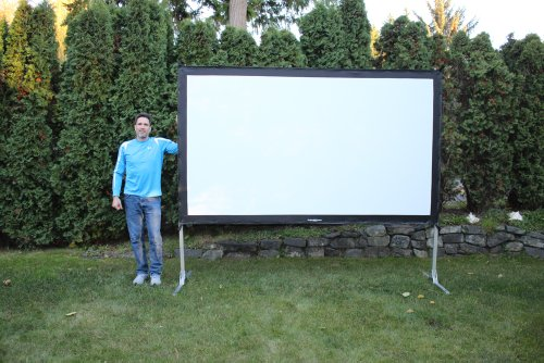 Learn More About Visual Apex ProjectoScreen120HD Portable Movie Theater Projector Screen 16:9 format