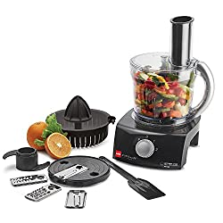 Cello Kitchen Chef KC-FP-100 400-Watt Food Processor (Black and white)