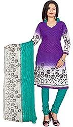 Fabgruh Presents Cotton Jacquard Dress Material(Purple)