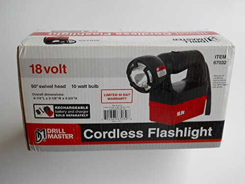 18 VOLT CORDLESS FLASHLIGHT (Drill Master 18 Volt Battery compare prices)