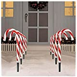 SET OF 8 CANDY CANE PATHWAY LIGHTS CHRISTMAS INDOOR/OUTDOOR DECORATION