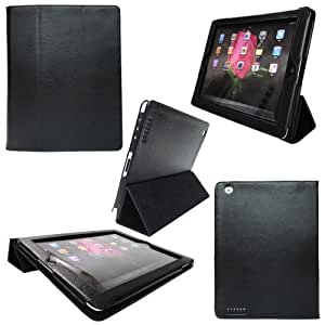 S & L IMP Back Flip-Style Durable Synthetic Leather Case for Ipad 2 with Screen Protector 16GB, 32GB, 64GB,WiFi and 3G(Black)