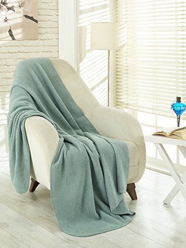 Best Price! Ottomanson Bed Blankets, Bedspread, Plush Cotton Throw, Soft Cotton Cozy Blanket Importe...