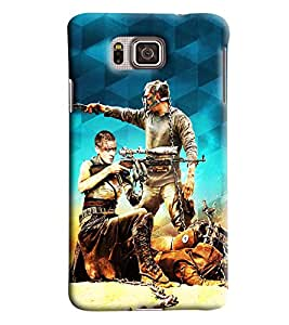 Clarks War Inpsired Hard Plastic Printed Back Cover/Case For Samsung Galaxy Alpha