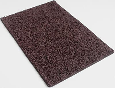 "Area Rug. Chocolate Brown carpet. 37 oz TWISTED SHAG FRIEZE. Many sizes and 20 vibrant ""mod"" colors to choose from."