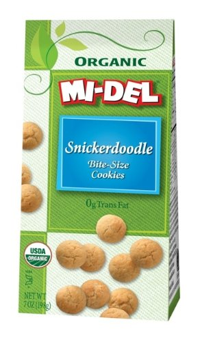 Mi-Del Bite-Size Organic Snickerdoodle Cookies, 7-Ounce Bags (pack Of 12)