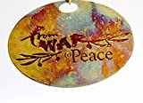From War to Peace Signature Ornament Iridescent Patina with Translucent Red Enamel