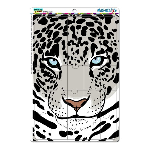 Graphics And More Snow Leopard Big Cat Mag-Neato'S Novelty Gift Locker Refrigerator Vinyl Puzzle Magnet Set front-636768