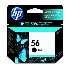 HP 56 C6656AN#140 Ink Cartridge in Retail Packaging-Black
