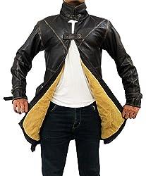 Distress Brown Watch Dog Coat Jacket - Aiden Pearce Jacket Costume