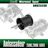 【Avail/アベイル】 【Abu/アブ】 Ambassadeur/アンバサダー用 NEW軽量浅溝スプール Avail Microcast Spool AMB2520R ブラック