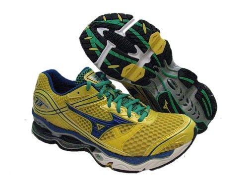 meet a7e79 1a8bf ... spain feature of mizuno women s wave creation 13 running shoe yellow  blue green size 6