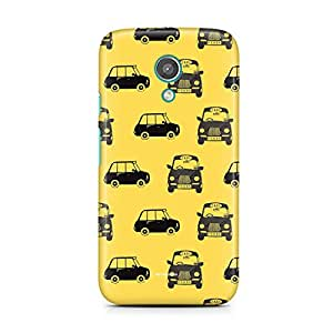 Motivatebox-Moto E2 (Second Generation) cover-Taxi Polycarbonate 3D Hard case protective back cover. Premium Quality designer Printed 3D Matte finish hard case back cover.