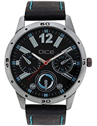 "Dice ""Expedia-1417"" Chrono Dial-Shape Casual Round Shaped Wrist Watch For Men. Fitted With Beautiful Black Color..."