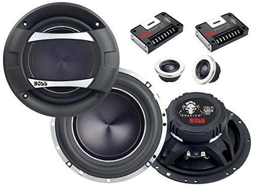 boss audio pc65 2c phantom 6 5 2 way 500 watt component. Black Bedroom Furniture Sets. Home Design Ideas
