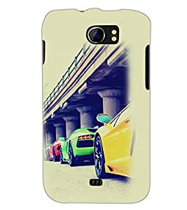 PrintDhaba Cars D-2169 Back Case Cover for MICROMAX A110 CANVAS 2 (Multi-Coloured)