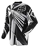 Fox Racing HC Vented Undertow Youth Boys Motocross/Off-Road/Dirt Bike Motorcycle Jersey - Black / Medium