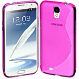 Estuche Cimo S  Flexible  para Samsung Galaxy S4, color rosado.
