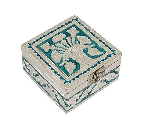 Ornate Ethnic Indian Wooden Jewelry Organizer Box