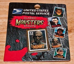 United States Postal Service Classic Universal Monsters Stamps Mummy Pin - 1