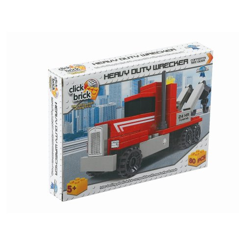 Click Bricks Heavy Duty Wrecker Set (80-Piece)