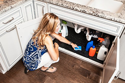 Xtreme Mats Under Sink Kitchen Cabinet Mat, 33 3/8 X 21 1/2, Black (Kitchen Cabinets With Sink compare prices)