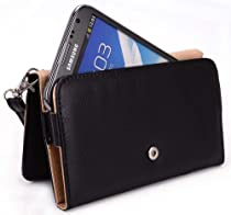 Samsung Galaxy Note 2 Case Wallet - Perfect Fit Wristlet with Detachable Strap and Credit Card Holder (Fits Galaxy Note 3), Black