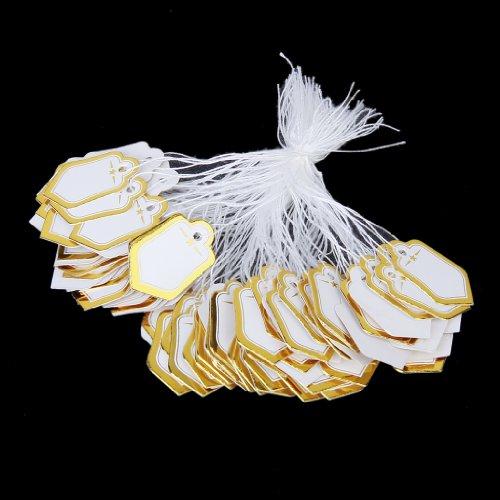 500pcs Étiquettes de Prix avec Cordes Suspendues Affichage de Vente de Bijoux Anneaux