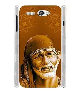 Lord Shirdi Sai Baba Sab Ka Malik Ek Soft Silicon Rubberized Back Case Cover for Lava Flair P1