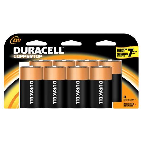 Duracell Coppertop Batteries D, 8-Count