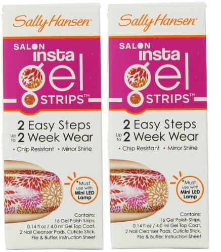 (Pack Of 2) Sally Hansen Salon Insta Gel Strips, Pretty N Poppy #450