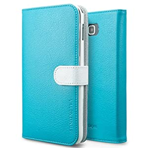 SPIGEN SGP Diary Leather Case Valentinus Series for Galaxy Note [Santorini, Blue, White]