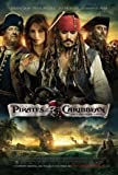 PIRATES OF THE CARIBBEAN ON STRANGER TIDES - JOHNNY DEPP - US MOVIE FILM WALL POSTER - 30CM X 43CM JACK SPARROW