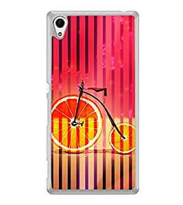 Orange Cycle 2D Hard Polycarbonate Designer Back Case Cover for Sony Xperia Z4