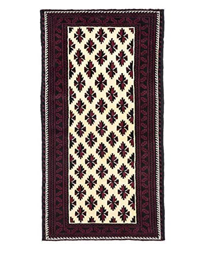 Darya Rugs Authentic Persian Tribal Rug, Red, 3' 4 x 6' 4