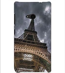 MICROSOFT LUMIA 535 EIFFEL TOWER Designer Back Cover Case By PRINTSWAG