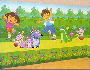 Dora the explorer diego room wall mural for Dora wall mural