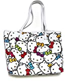 Hello Kitty Faux Leather Shoulder Tote Bag : Muti Color Faces