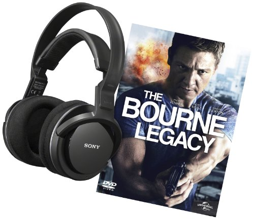 Sony MDR-RF855RK Cuffie Wireless e DVD The Bourne Legacy, Nero