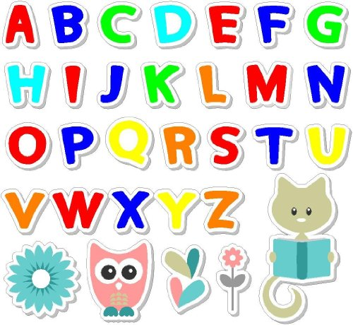 Color #2 Alphabet Set (31 Pcs) Peel And Stick Removable / Repositional Wall Art Sayings Educational School Quotes Vinyl front-466399