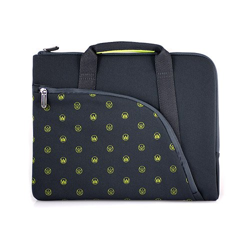CaseCrown Laptop Slim Neoprene Skin Sleeve with Carrying Handle (Lime) for Samsung Series 5 3G Chromebook