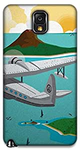 The Racoon Lean printed designer hard back mobile phone case cover for Samsung Galaxy Note 3. (Hawaii)