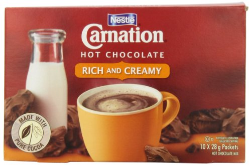 Carnation Hot Chocolate, Rich, 10-Count Box, 28g Envelopes